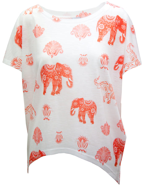 T-shirt In Large Elephant print