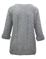 Cable Knit Jumper Wih Roll Sleeves