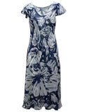 Reversible Dress In Bold Floral And Mono Print