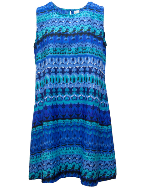 Horizon Print Shift Dress