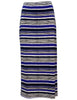 Stripe Maxi Skirt With Side Splits