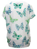 T-shirt In Floral Butterfly Print