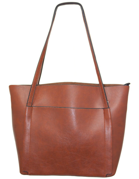 Multi Pocket Zip Tote Bag
