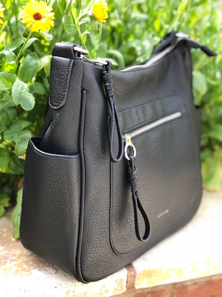 Zip Front Shoulder Bag
