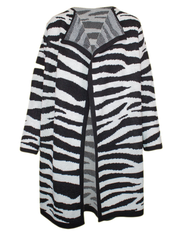 MITZY Zebra Long Cardigan