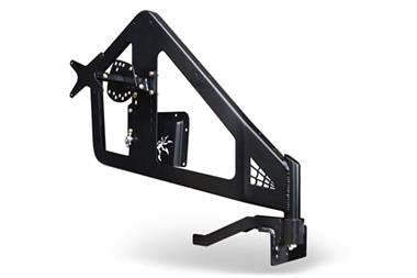 Poison Spyder Poison Spyder Customs Frame Mounted Tire Carrier (Black) - 17-62-030TP1