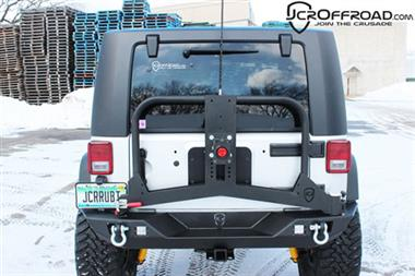 JCR Offroad Adventure Tire Carrier - JCR JKAC-PC