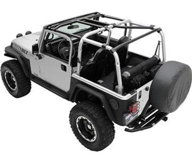Smittybilt SRC Roll Cage Kit, 2007-2010 2-Door JK Wrangler - 7-Piece - 76901