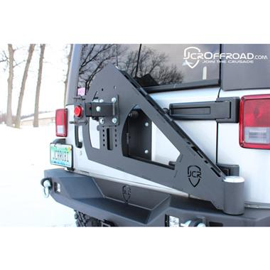 JCR Offroad Tire Carrier Shield Gate Bare Steel or Black Powdercoat - JCR JKSC2-PC or JKSC2-BARE