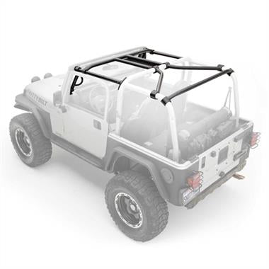 Smittybilt SRC Roll Cage Kit, 2007-2010 4-Door JK Wrangler - 6-Piece - 76902