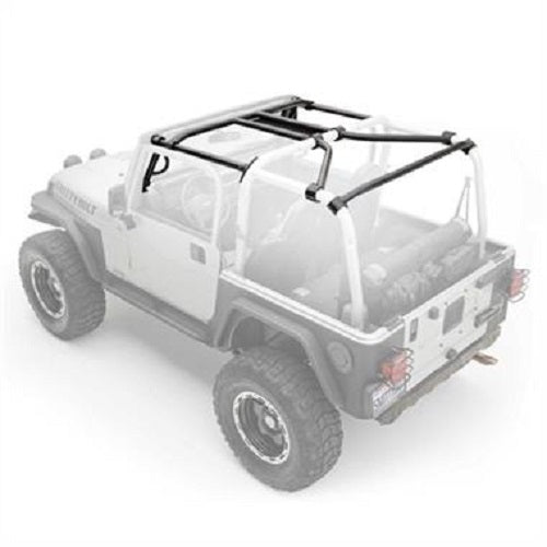 Smittybilt SRC Roll Cage Kit, 2010-2018 2-Door JK Wrangler - 7-Piece - 76903