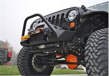 Poison Spyder Brawler Lite Front Bumper with Brawler Bar in Bare Steel - PSC17-59-010-B