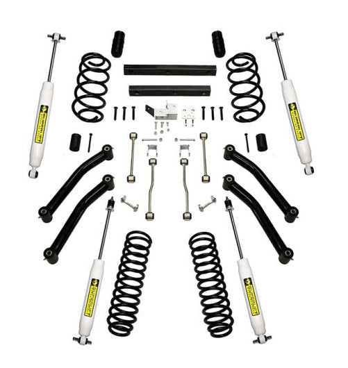 JK Wrangler 4 inch 4-Door SuperLift Lift Kit w/ Control Arms