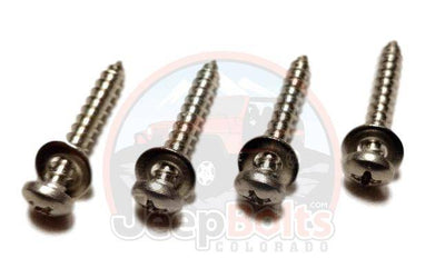 TJ Wrangler Jeep Bolts - Jeep TJ Wrangler Windshield Face Bolt Screws 8 Piece Rust Proof Stainless Set