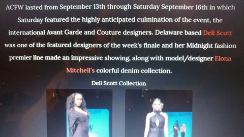 "Notable mention of ""MIDNIGHT"" Collection by Creation Station DMV Co September 2017"