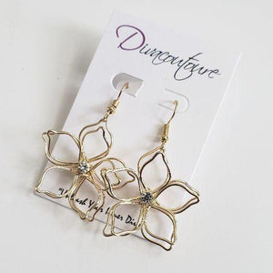 Petal Stone Accent Earrings