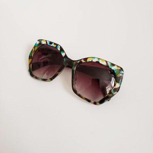 Green Tortoise Shell Sunglasses