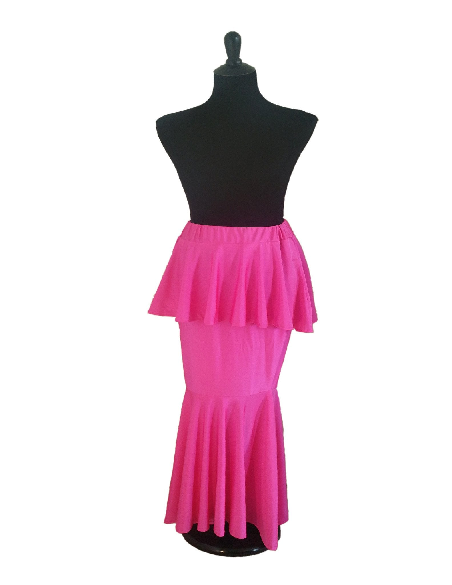 DS Collection Pink Peplum Skirt