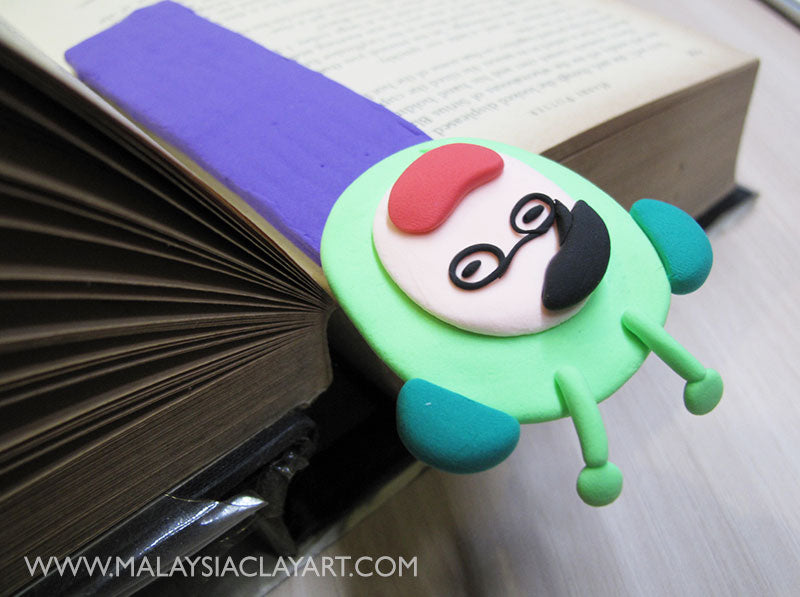 How to make running man- grasshopper book mark