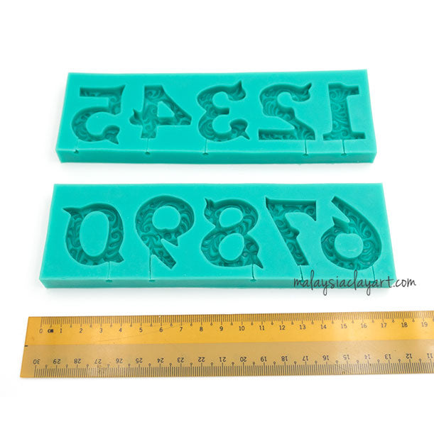 rthday Dates Numbers 0-9 Silicone Mold