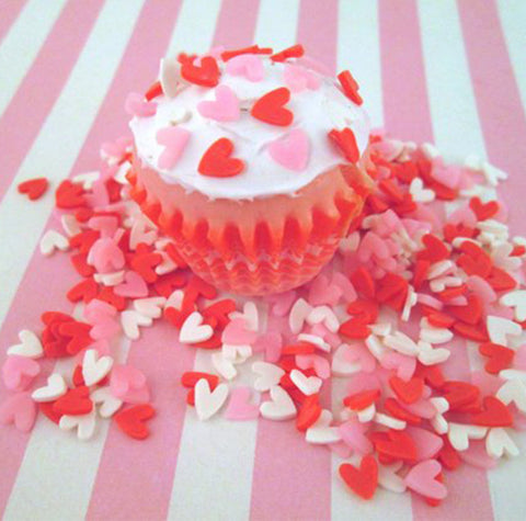 Sweet deco tiny love heart food decoration topping