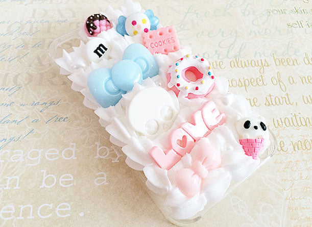 Cream Clay DIY Set With Food Cabachon and Decorative Tips - Kawaii Phone Case DIY Materials