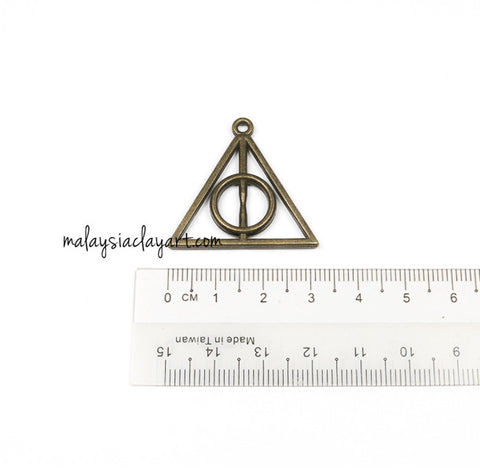 DIY Zakka Vintage Harry Potter Deathly Hallows Charm (3cm)