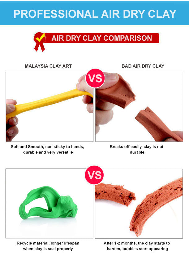 air dry clay - 100g/ pack , air dry clay 100g, air dry clay, light air dry clay