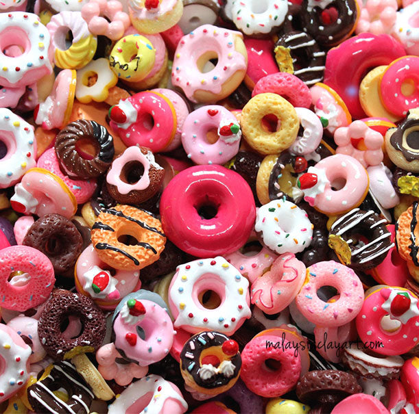 Donuts Assorted Mix Kawaii Decoden Kit Cute Donuts Cabochons