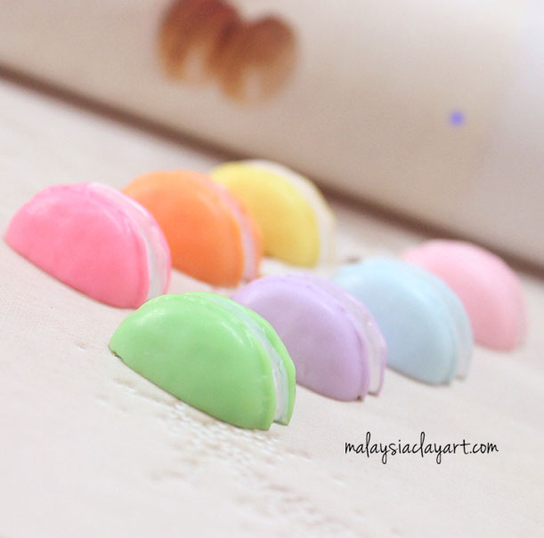 Orange Half Macaron Kawaii Decoden Cute Cabochon