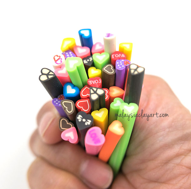 Love Shaped Polymer Clay Cane