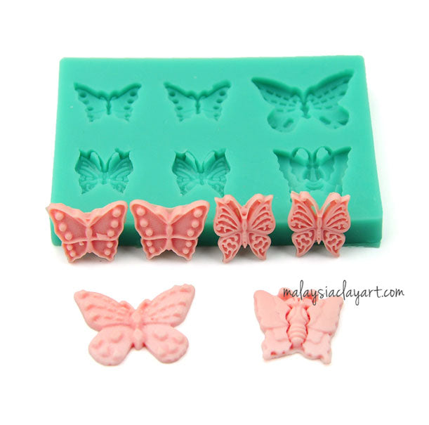 tterfly Silicone Mold - 6 Cavity