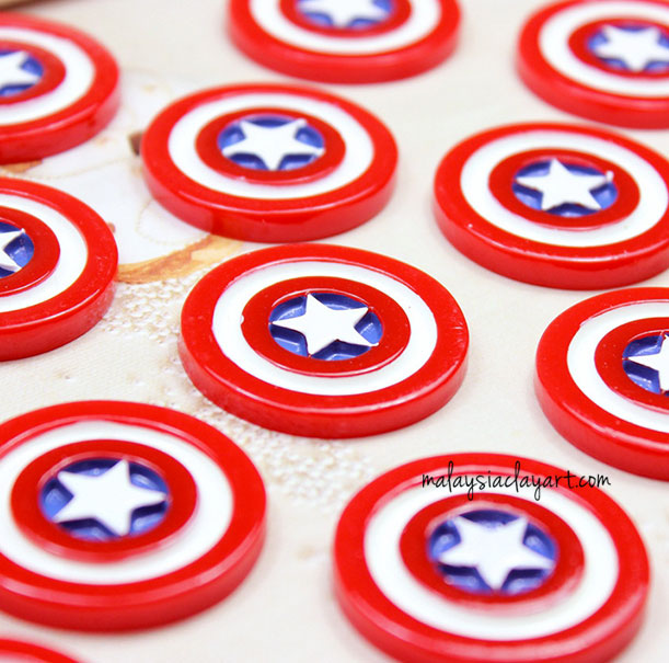Captain America Shield decoden charm