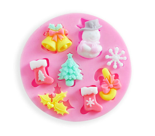 ristmas Element Silicone mold - 8 Designs