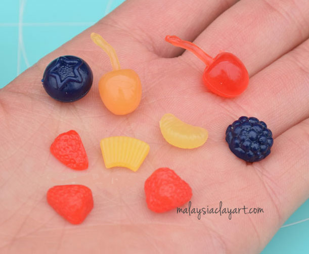 Orange Slice Cabochon (10 pcs) Dollhouse Fruit Toppings Sweets Deco