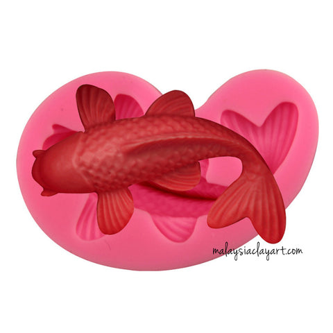 koi fish silicone jelly fondant mold