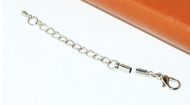 1 x Lobster Claw Cord Clasp With Chain Extender And Tongs