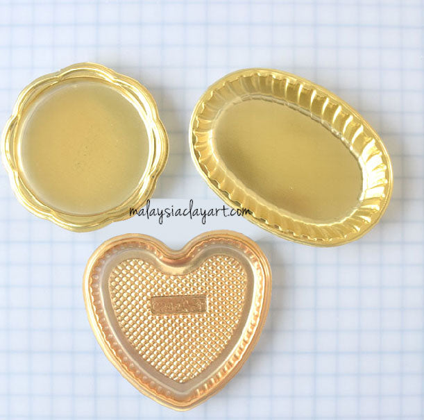 Miniature Golden Love Shaped Dessert Plate