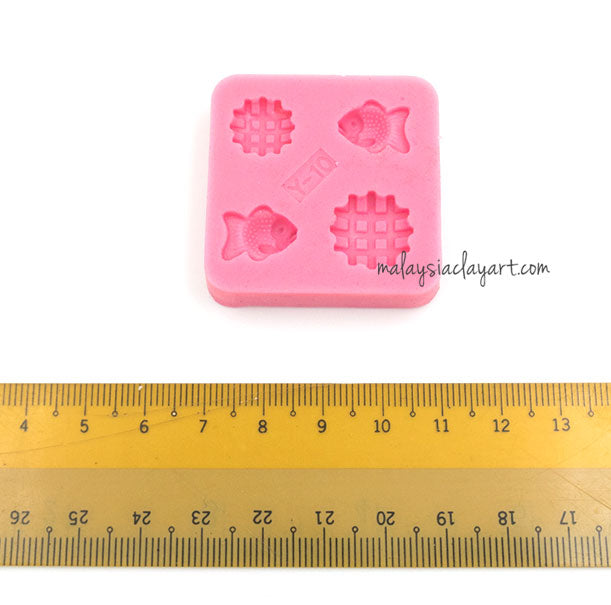 niature small bread pastry cookie silicone mold