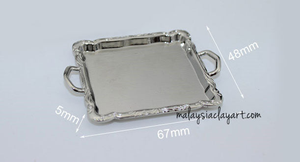 miniature silver tray plate