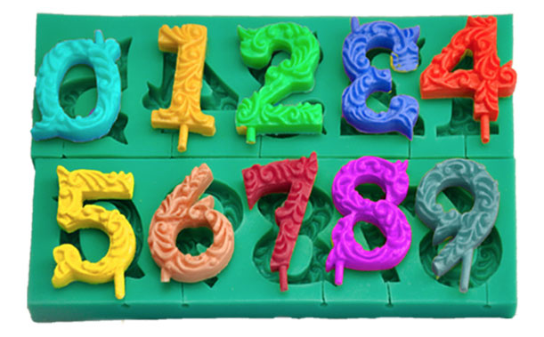 Birthday Dates Numbers 0-9 Silicone Mold