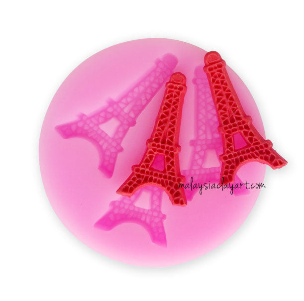 Eiffel Tower Paris Charm Mold - 3 Cavity