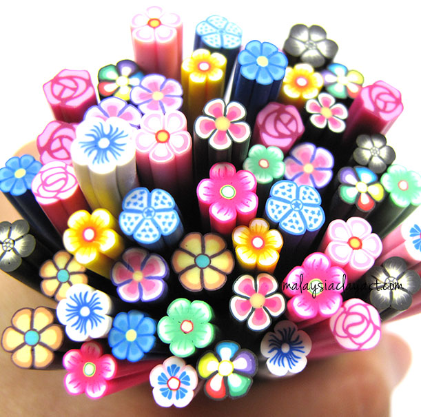 Assorted Flowers Polymer Clay Canes Bulk Wholesale