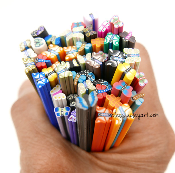 Assorted Butterfly Polymer Clay Canes Bulk Wholesale