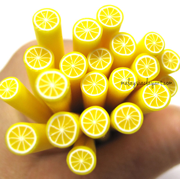 Lemon Polymer Clay Cane