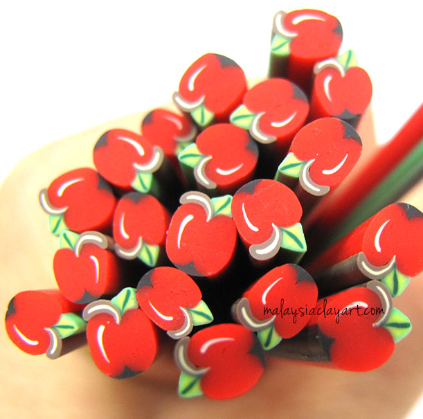 Apple Polymer Clay Cane