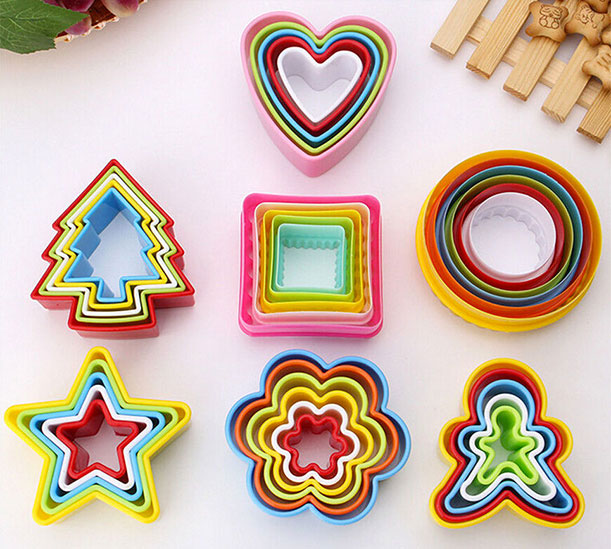 Love Heart Shape 5 Pcs Cutter Set