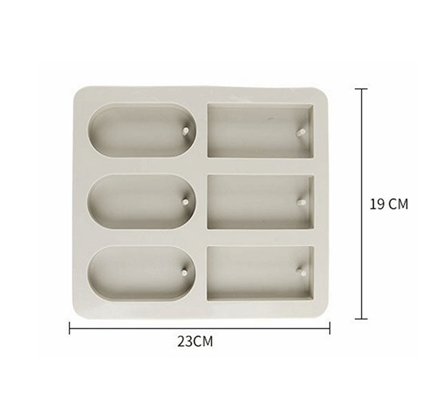oval rectangular silicone mold pendnat