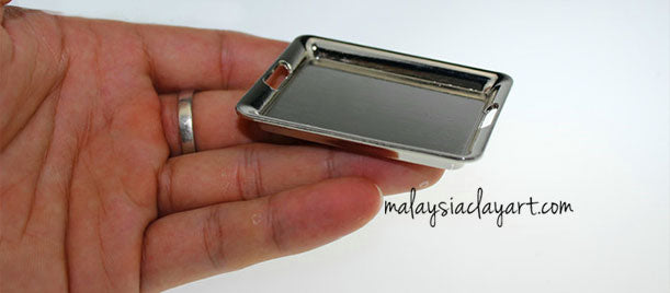 silver tray alloy miniature for dollhouse