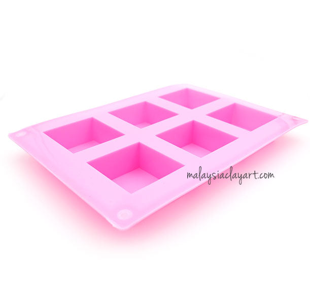 Square 6 Cavity Silicone Mold | AB Resin